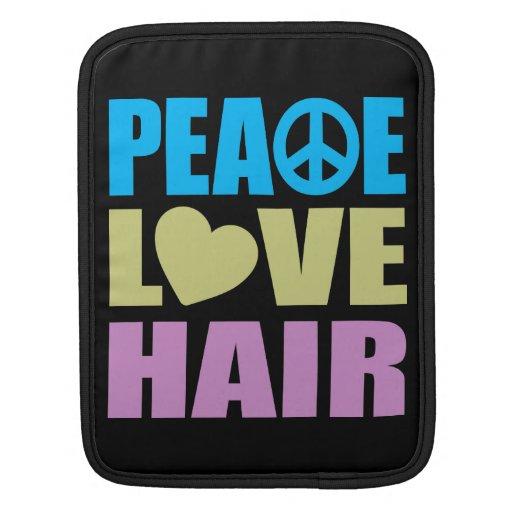 Peace Love Hair iPad Sleeve