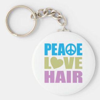 Peace Love Hair Key Chain