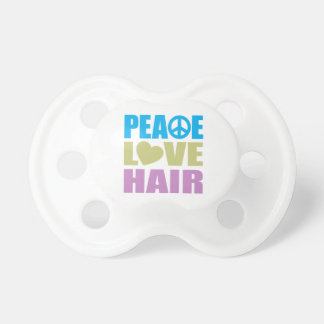 Peace Love Hair Pacifier