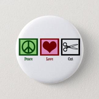 Peace Love Haircuts Button