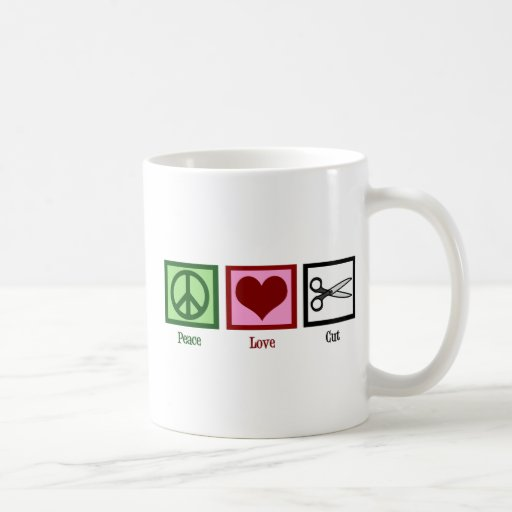 Peace Love Haircuts Classic White Coffee Mug