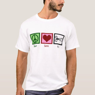 Peace Love Haircuts T-Shirt