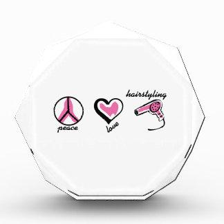 PEACE LOVE HAIRSTYLING ACRYLIC AWARD