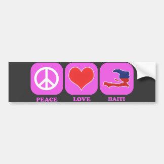 Peace Love Haiti Bumper Sticker