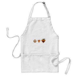 peace love halloween adult apron