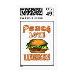 Peace Love Hamburgers Stamp