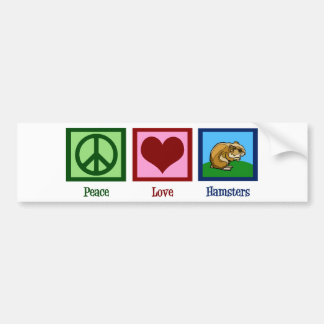 Peace Love Hamsters Bumper Sticker