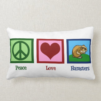 Peace Love Hamsters Lumbar Pillow