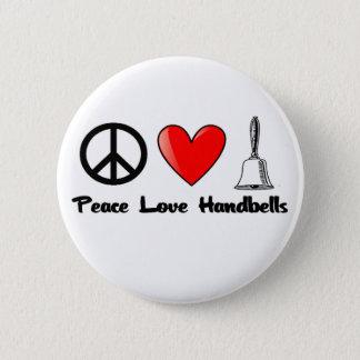 Peace, Love, Handbells Button