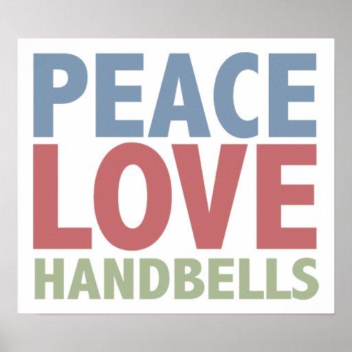 Peace Love Handbells Print
