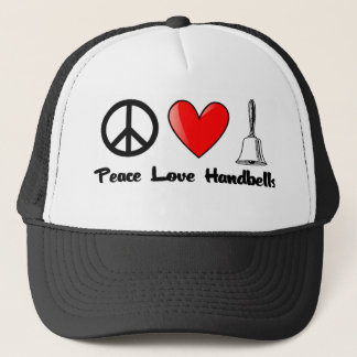 Peace, Love, Handbells Trucker Hat