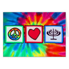 Peace, Love, Hanukkah Card