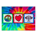 Peace, Love, Hanukkah Card