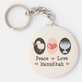 Peace Love Hanukkah Key Chain