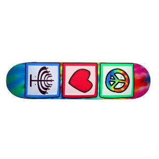 Peace, Love, Hanukkah Skate Board Deck
