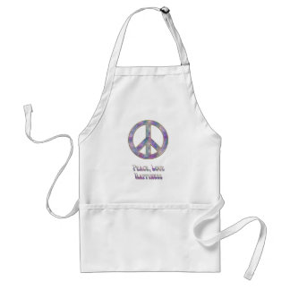 Peace Love Happiness 5 Adult Apron