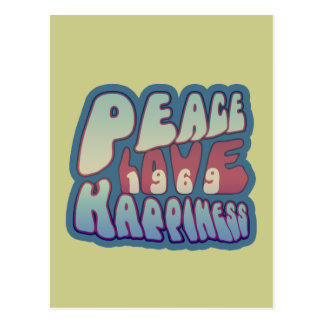 Peace Love Happiness 69 Postcard