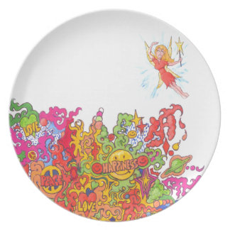Peace, Love, Happiness and a Fairy Dinner Plate