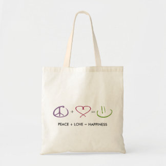 Peace + Love = Happiness Bag