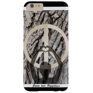 Peace love happiness barely there iPhone 6 plus case