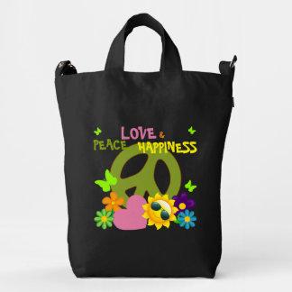 Peace Love & Happiness Beach Bag