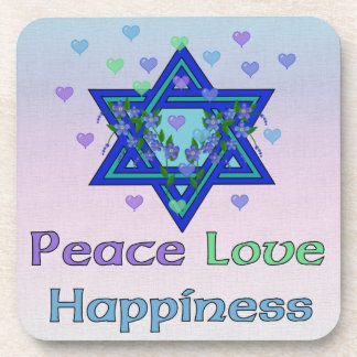 Peace Love Happiness Beverage Coaster