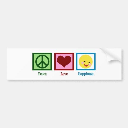 Peace Love Happiness Bumper Sticker