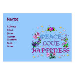 Peace Love Happiness Large Business Cards (Pack Of 100)