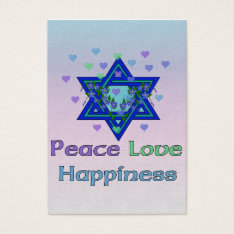 Peace Love Happiness Business Card at Zazzle