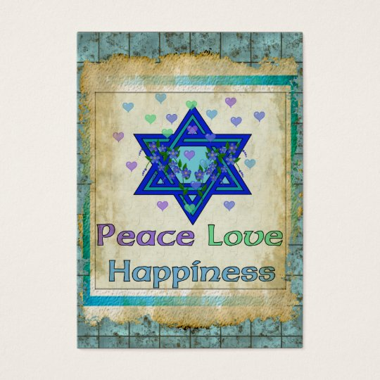 Peace Love Happiness Business Card