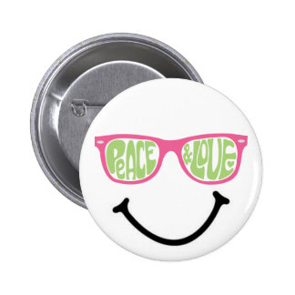 Peace & Love & Happiness Button