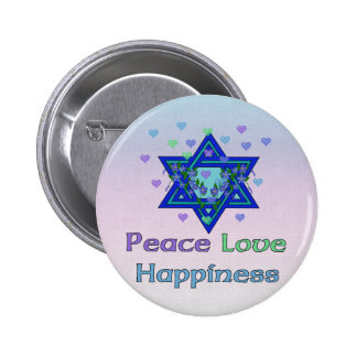 Peace Love Happiness Button