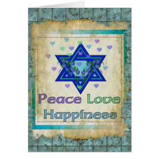 Peace Love Happiness Card