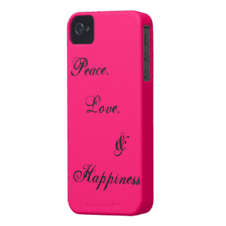 Peace, Love, & Happiness iPhone 4 Case