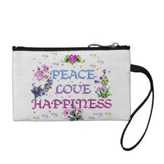 Peace Love Happiness Change Purse