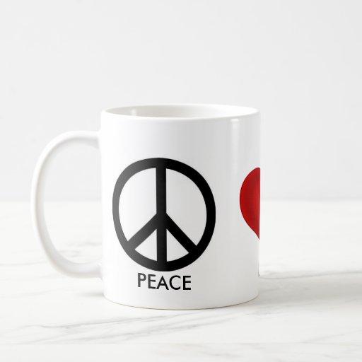 PEACE, LOVE, HAPPINESS COFFEE MUG