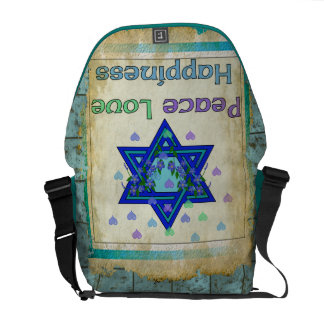 Peace Love Happiness Courier Bag