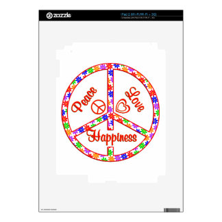 Peace Love Happiness Decal For iPad 2