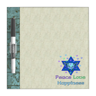 Peace Love Happiness Dry-Erase Board