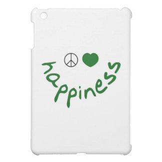 Peace Love Happiness (green edition) iPad Mini Cover