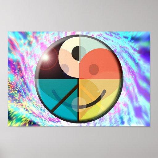 Peace, Love, Happiness, Harmony Poster