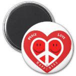 Peace Love & Happiness II Magnet