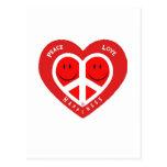 Peace Love & Happiness II Postcard