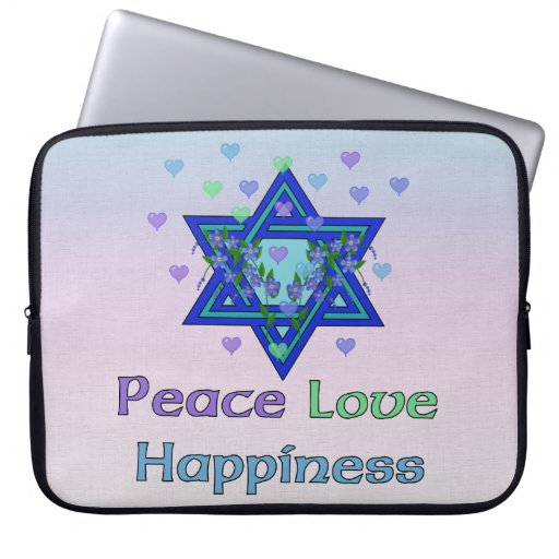 Peace Love Happiness Laptop Computer Sleeves