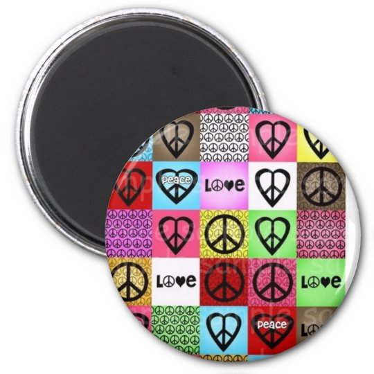 peace love happiness:) magnet