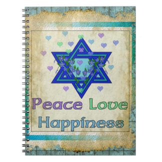 Peace Love Happiness Notebook