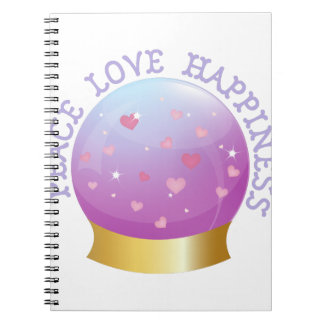 Peace Love Happiness Spiral Notebooks