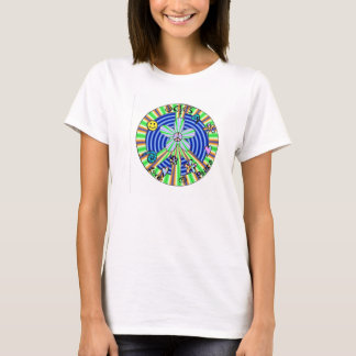 peace love happiness peace sign decal adult female T-Shirt
