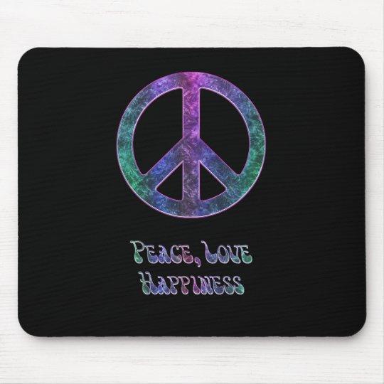 Peace Love Happiness Peace Sign Mousepad