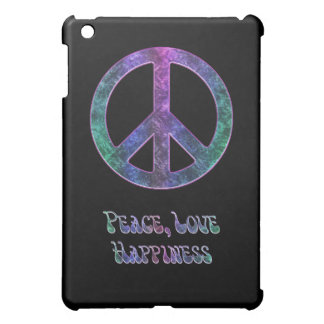 Peace Love Happiness Peace Sign on  iPad Mini Covers